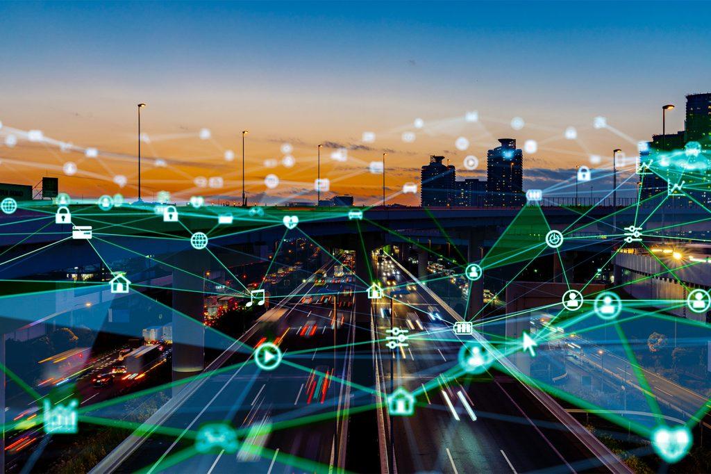 Smart,city,and,communication,network,concept.,5g.,lpwa,(low,power
